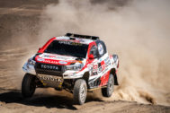 El Toyota Hilux ganador del Dakar 2018.