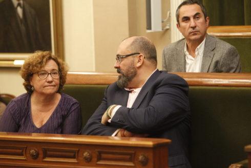 Ali Brancal junto a Enric Nomdedéu en el Ayuntamiento de Castellón