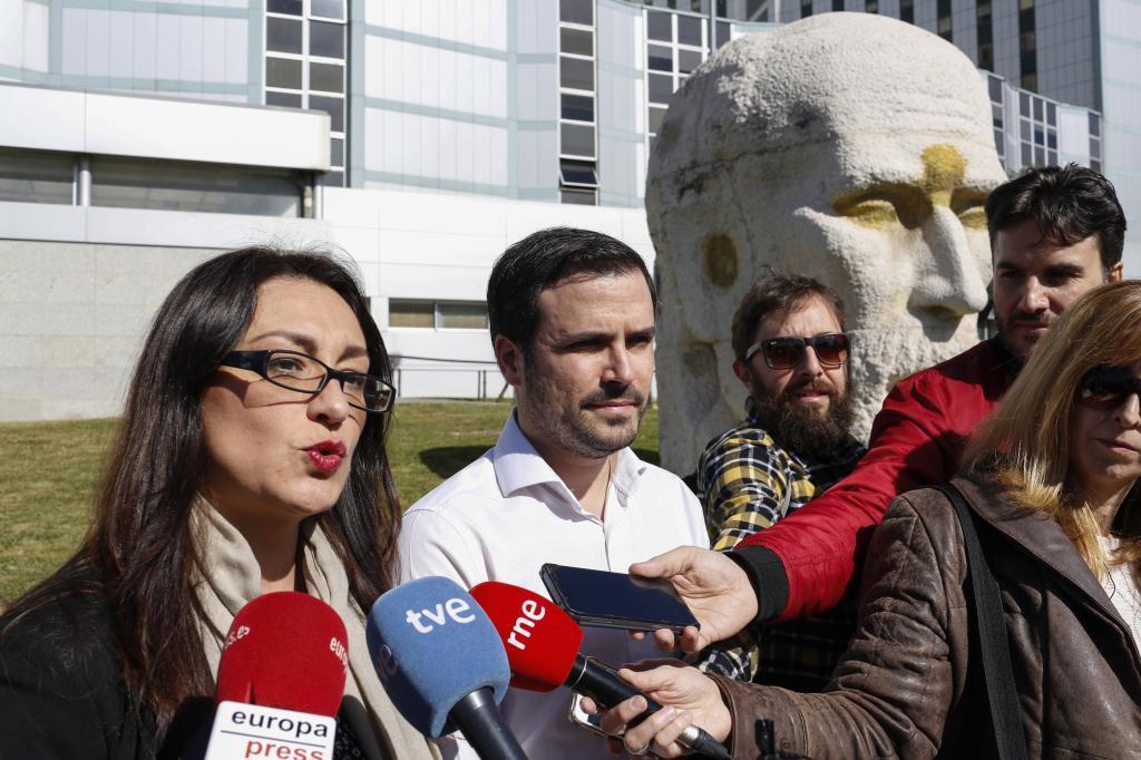 Sol Sánchez y Alberto Garzón, en una imagen de archivo.
