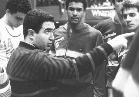 Garrido, durante su primer año como técnico colegial.