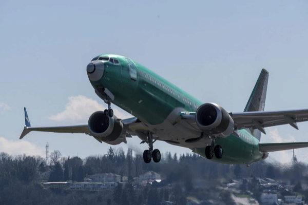 Despegue de un Boeing 737 MAX.