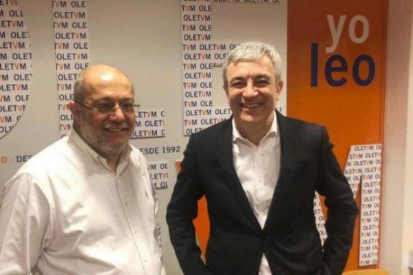 Luis Garicano, junto al diputado por Valladolid Francisco Igea