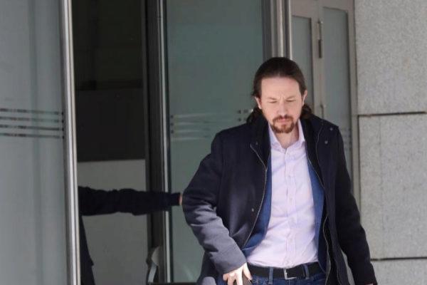 Pablo Iglesias, a su salida de la Audiencia Nacional.