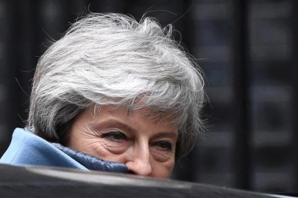 Theresa May abandona el 10 de Downing Street este miércoles.