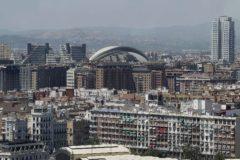Vista aérea de la ciudad de Valencia con el Palau de les Arts al fondo.