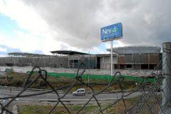 El centro comercial Nevada, durante su construcción.
