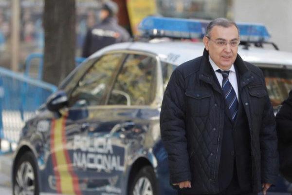 Enrique García Castaño, a su llegada a la Audiencia Nacional.