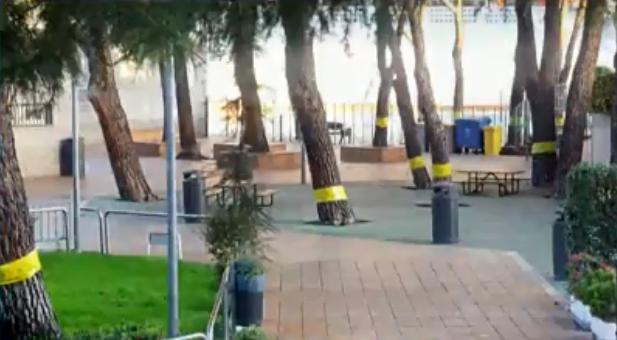 Cintas amarillas en el barrio maddrileño de la Concepción.