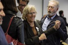 Carmena con el CEO de Madrid Destino.