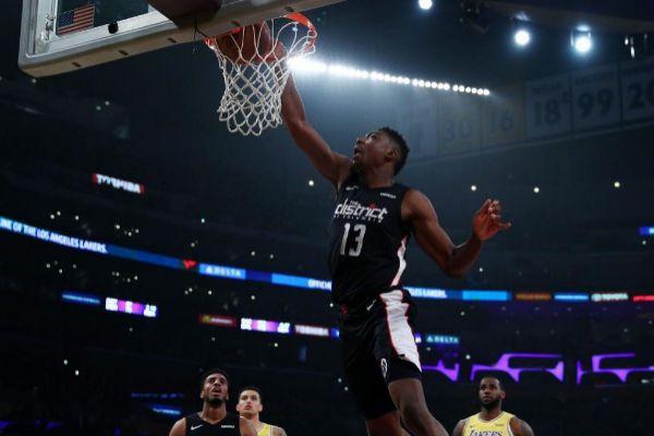 Un jugador de los Washington Wizards, durante un partido de la NBA.