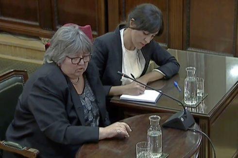 Helena Catt, observadora internacional, declara en el juicio del 1-O