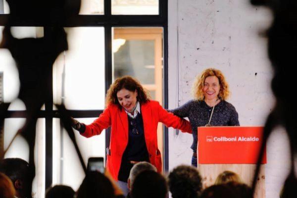 La ministra de Política Territorial y Función  Pública, Meritxell Batet, junto a la responsable de Hacienda, María Jesús Montero.