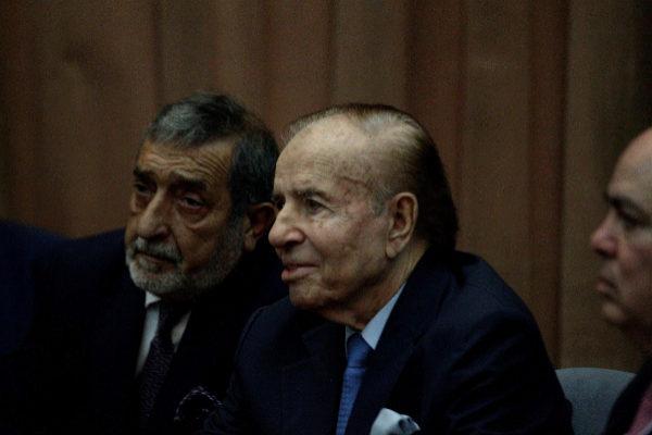 Carlos Menem, durante una audiencia en Buenos Aires, el 28 de febrero.