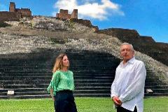 El presidente y la primera dama mexicanos, Andrés Manuel López Obrador y Beatriz Gutiérrez Müller
