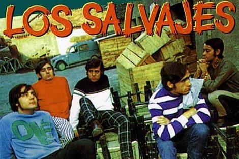 Uno de los carteles de la banda catalana Los Salvajes.