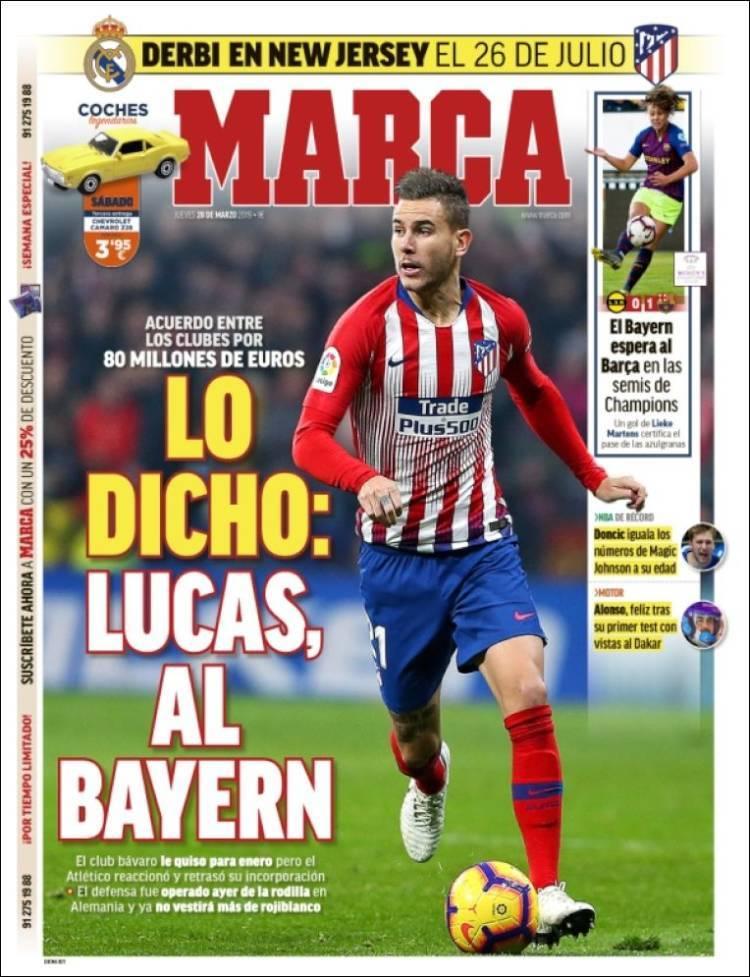 Las portadas de los diarios deportivos del 28 de marzo