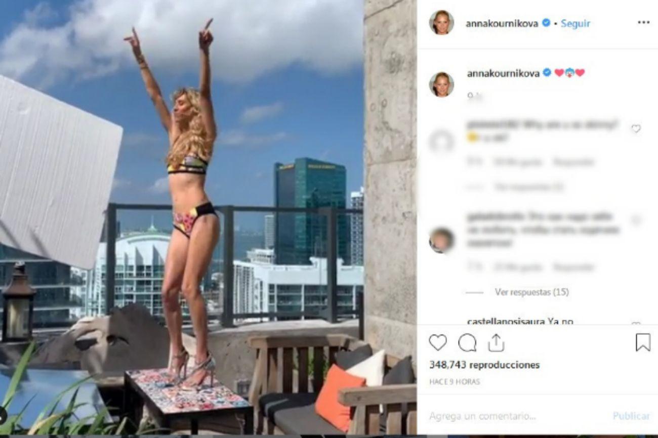 Anna Kournikova ha compartido un vídeo en Instagram donde muestra su...