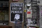 Un póster contra el presidente de EEUU.