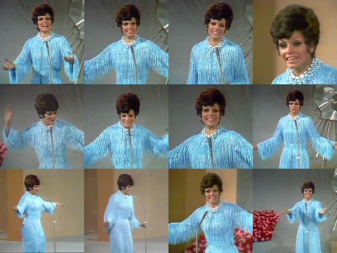 Imágenes de la actuación de Salomé en Eurovisión en 1969.