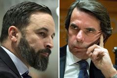 """Vox, a Aznar: """"Cuando quiera le hablo  mirándole a los ojos de la derechita cobarde"""""""