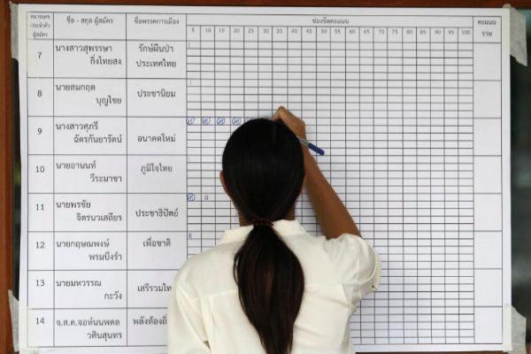 Recuento de votos de las elecciones general de Tailandia.