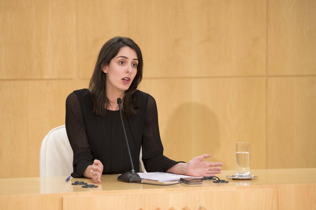 Rita Maestre, en una rueda de prensa.
