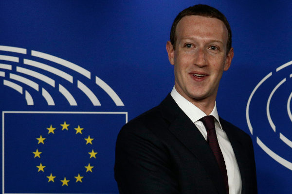Mark Zuckerberg en el Parlamento Europeo.