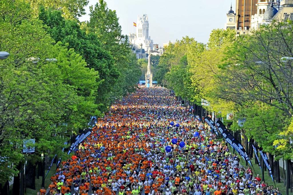 Corredores en el Maratón de Madrid