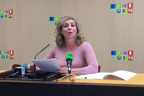 Gema Amor, este jueves, en la rueda de prensa en la que ha anunciado su retirada.