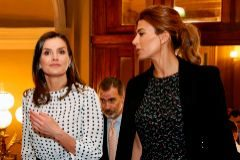 "Photo released by the International Congress of the Spanish Language (CILE) press service of Argentina's First Lady Juliana <HIT>Awada</HIT> (R), Queen <HIT>Letizia</HIT> (L) and King Felipe VI of Spain during the VIII International Congress of the Spanish Language at the Libertador General San Martin Theater in Cordoba, Argentina on March 27, 2019. (Photo by HO / CILE / AFP) / RESTRICTED TO EDITORIAL USE - MANDATORY CREDIT ""AFP PHOTO / CILE"" - NO MARKETING NO ADVERTISING CAMPAIGNS - DISTRIBUTED AS A SERVICE TO CLIENTS"