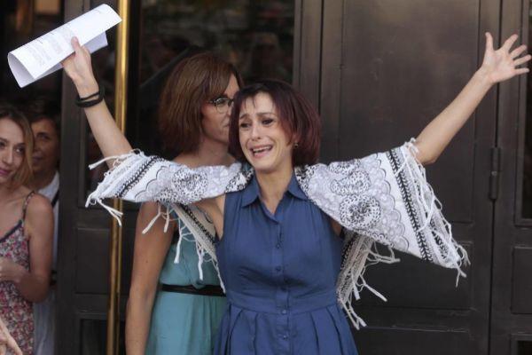 Juana Rivas después de haber estado un mes desaparecida para no entregar a sus hijos.