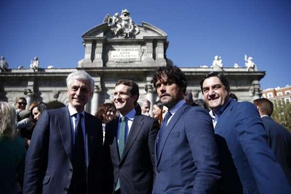 Suárez Illana, Pablo Casado y Miguel Abellán.
