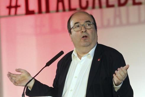 Miquel Iceta, en un acto del PSC en L'Hospitalet
