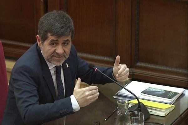 Jordi Sànchez durante el juicio.