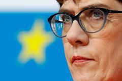 La líder cristianodemócrata,  Annegret Kramp-Karrenbauer.