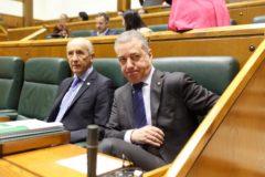 """Urkullu asegura que, """"de momento"""", no prevé ningún adelanto de las  elecciones vascas"""