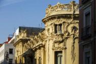 Fachada de la sede de la SGAE en Madrid.