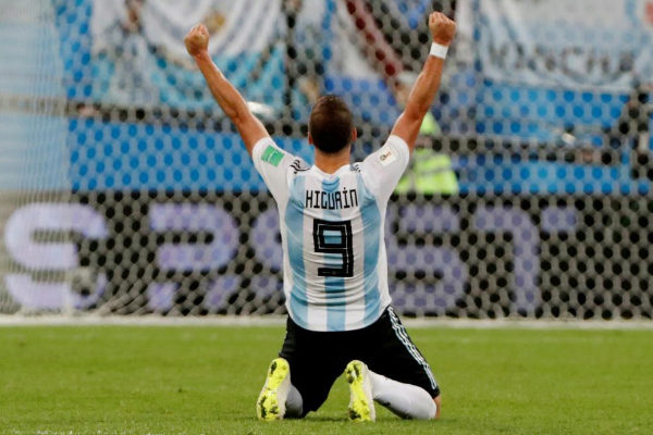 Gonzalo Higuaín, durante un partido del Mundial 2018.