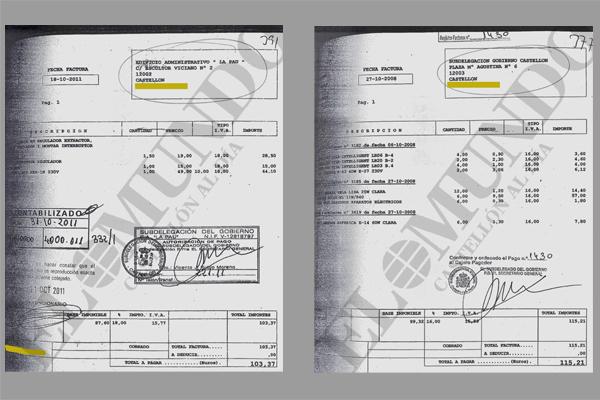 Facturas de la empresa eléctrica que investiga el juzgado de instrucción en la causa de la Subdelegación del Gobierno.