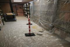 Imagen de aguas residuales en uno de los juzgados de Martorell
