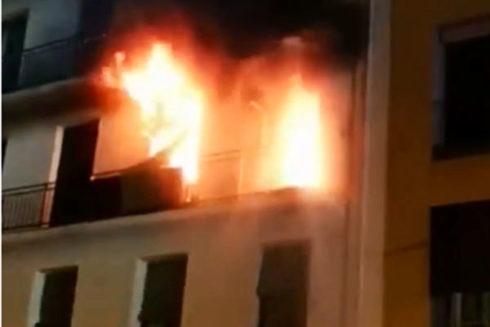 Imagen captada de un vídeo de Emergencias del incendio.