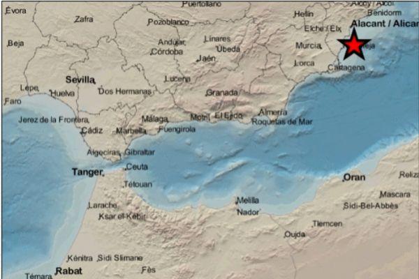 Epicentro del terremoto de este jueves