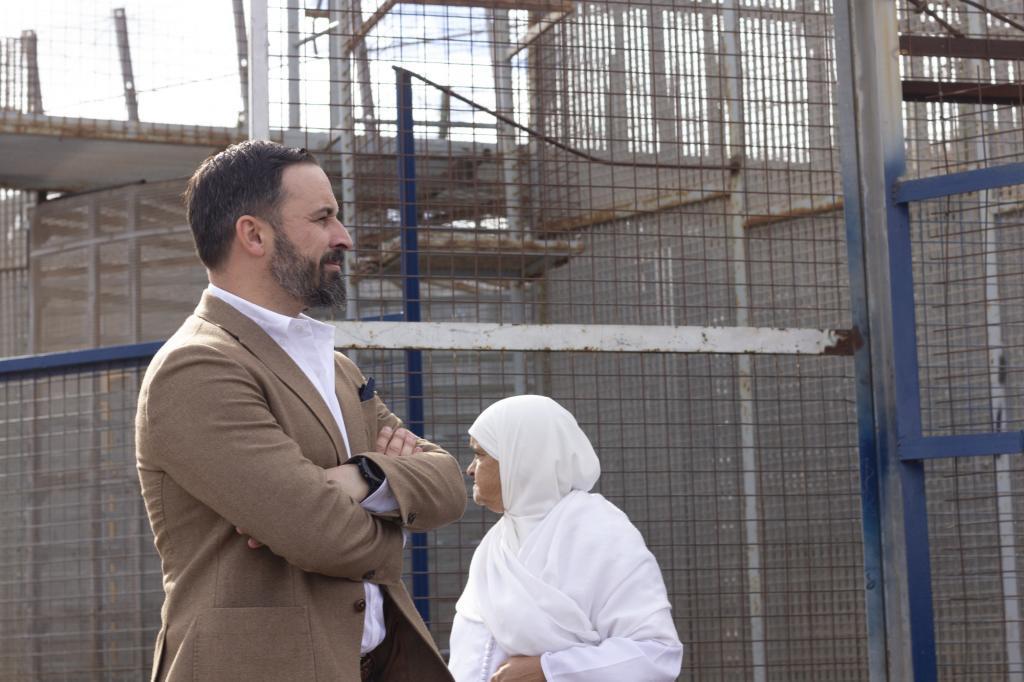 Santiago Abascal, el pasado noviembre, durante su visita a la valla de Melilla.