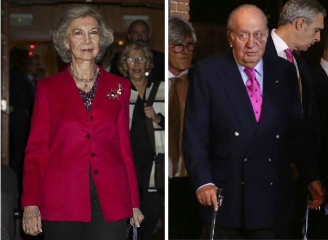 La Reina Sofía y Don Juan Carlos en sus reapariciones esta semana