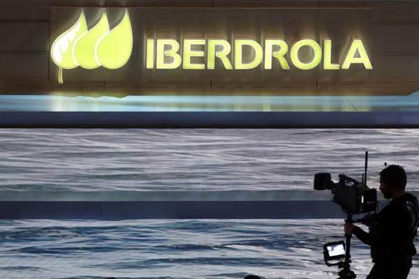 Logotipo de Iberdrola, en la última junta de accionistas.