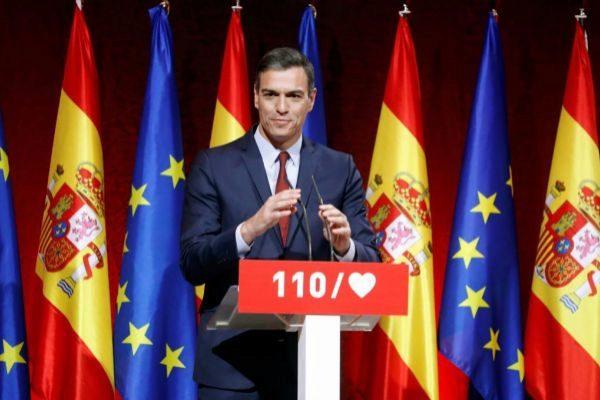 Sánchez, durante la presentación de su programa electoral.