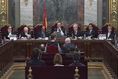 Una sesión del juicio del 1-O.