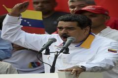 Nicolás Maduro, durante un discurso en Caracas, en marzo.