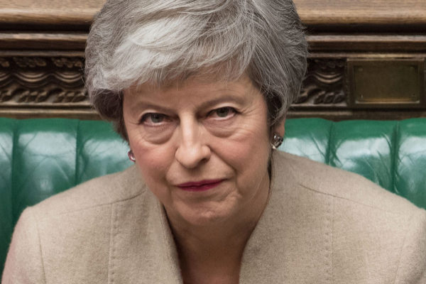 Theresa May, ayer, en la sesión parlamentaria.