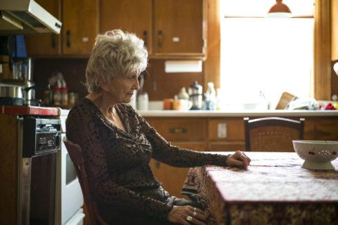 Alice Munro en su casa de Clinton, Ontario, Canada.